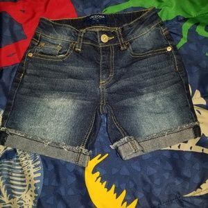 Girls blue jean shorts size 7